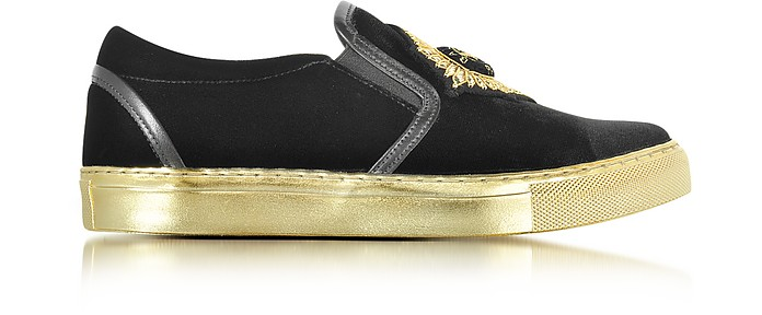 Queen Black Velvet Sneaker - Balmain