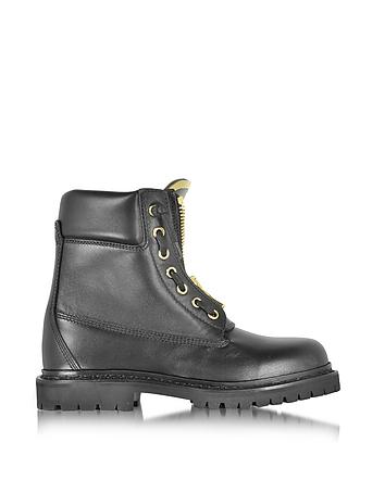 Taiga Black Leather Ranger Boot