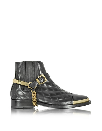 Diva Black Quilted Leather Boot