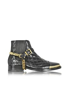 Diva Black Quilted Leather Boot - Balmain