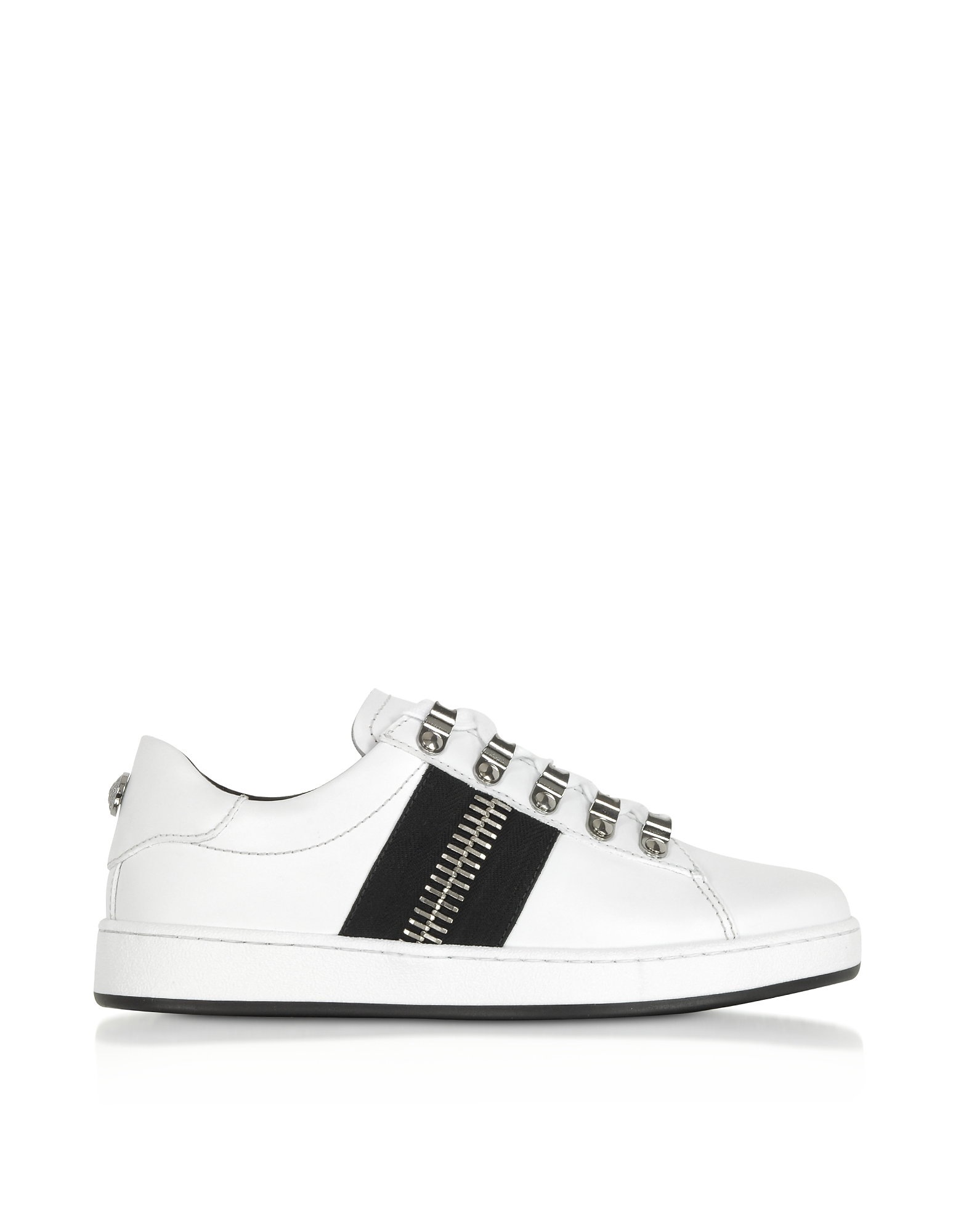 Esther White Leather Low-Top Sneakers