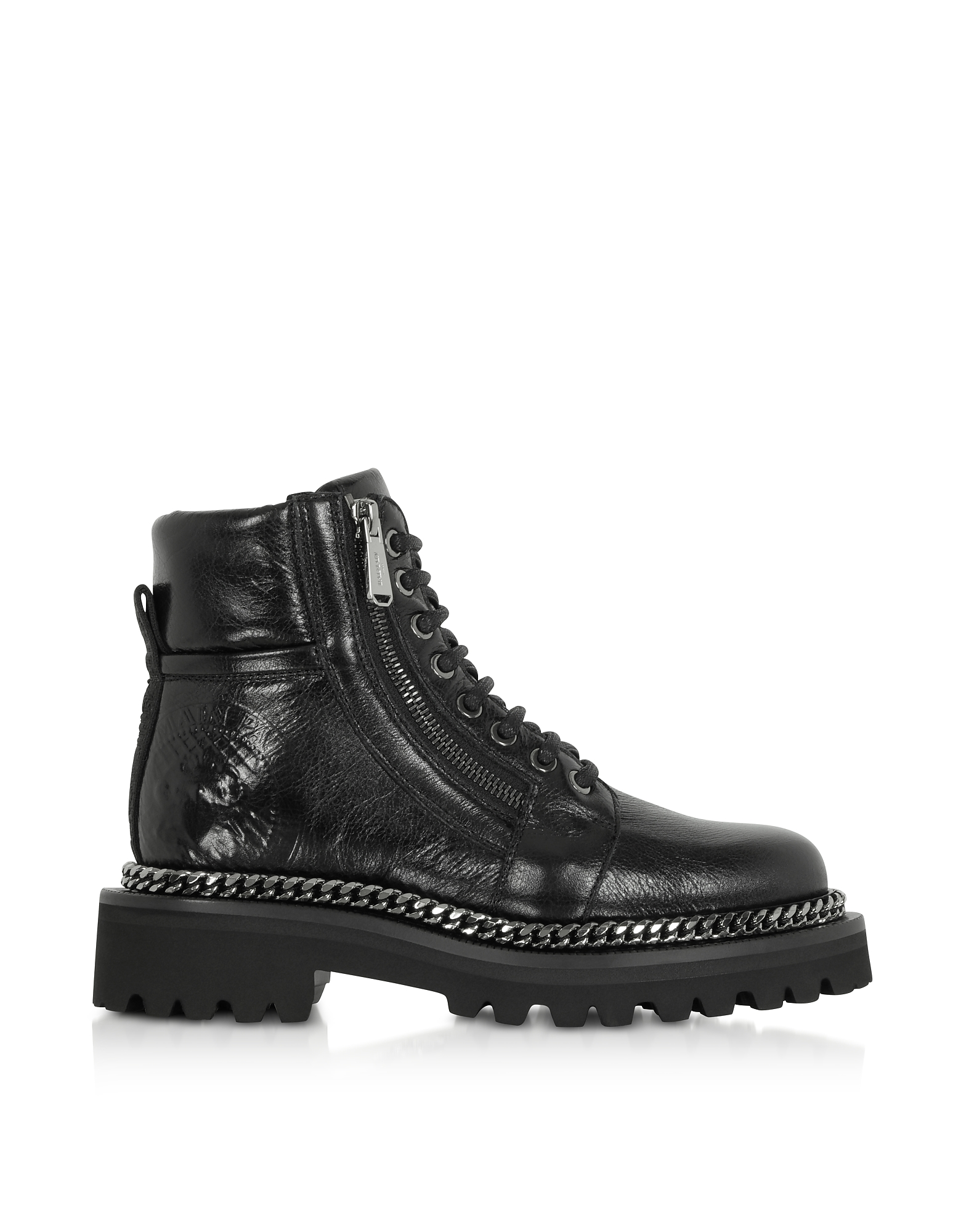 Balmain Shoes, Black Leather Army Boots