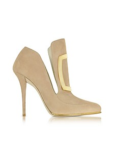 Desiree Beige Soft Suede Pump - Balmain