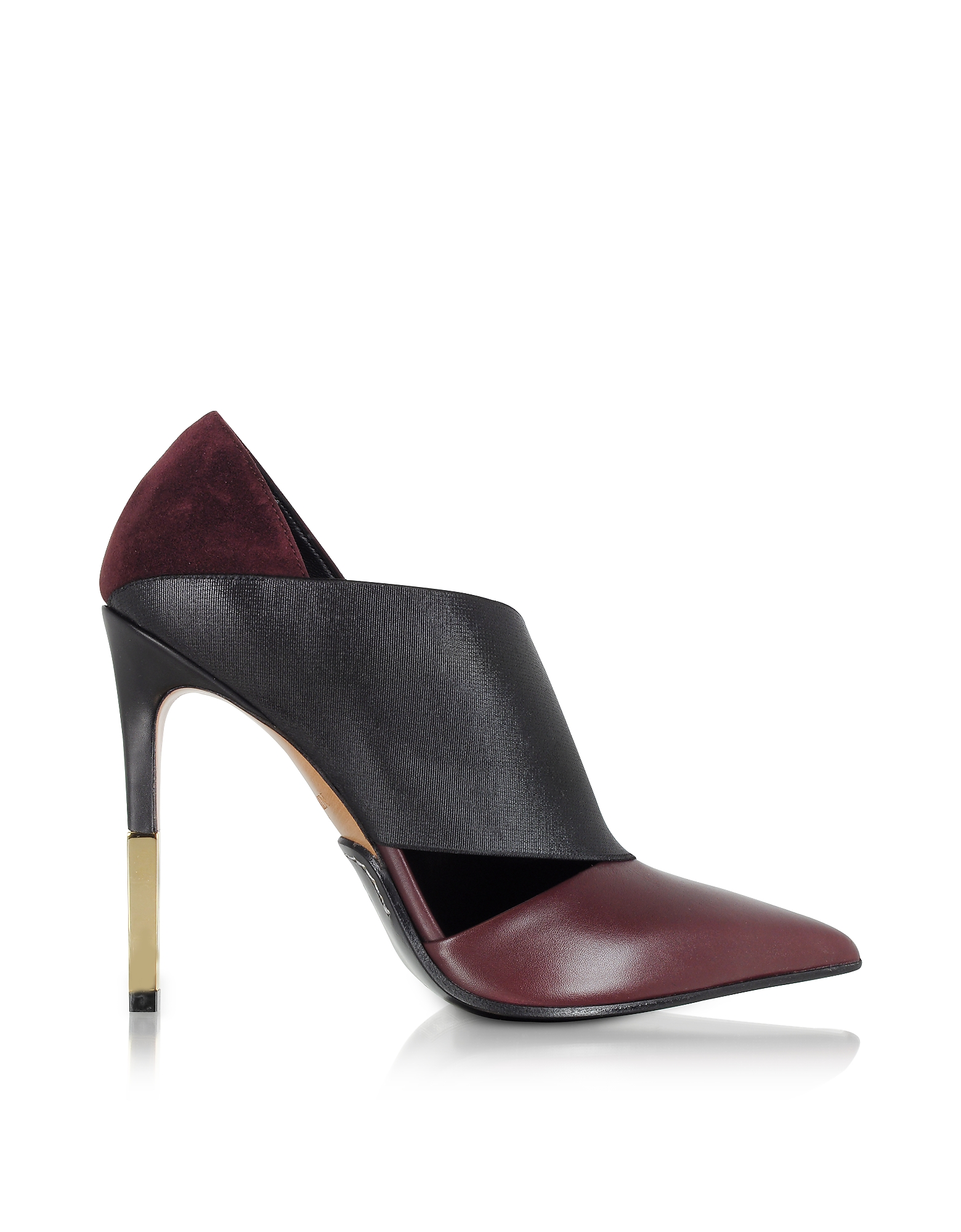 Balmain Shoes, Audrey Burgundy Leather Pump