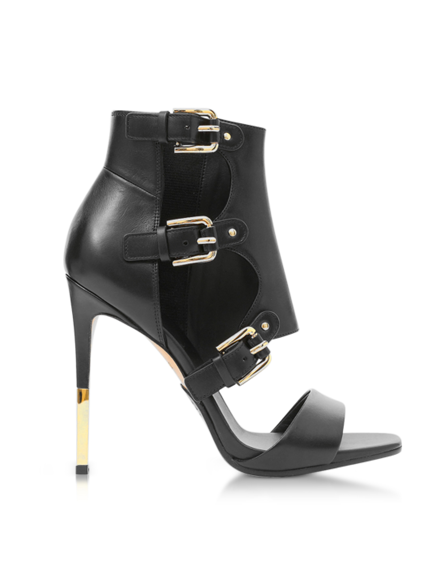 Balmain Shoes, Alienor Black Leather Sandals