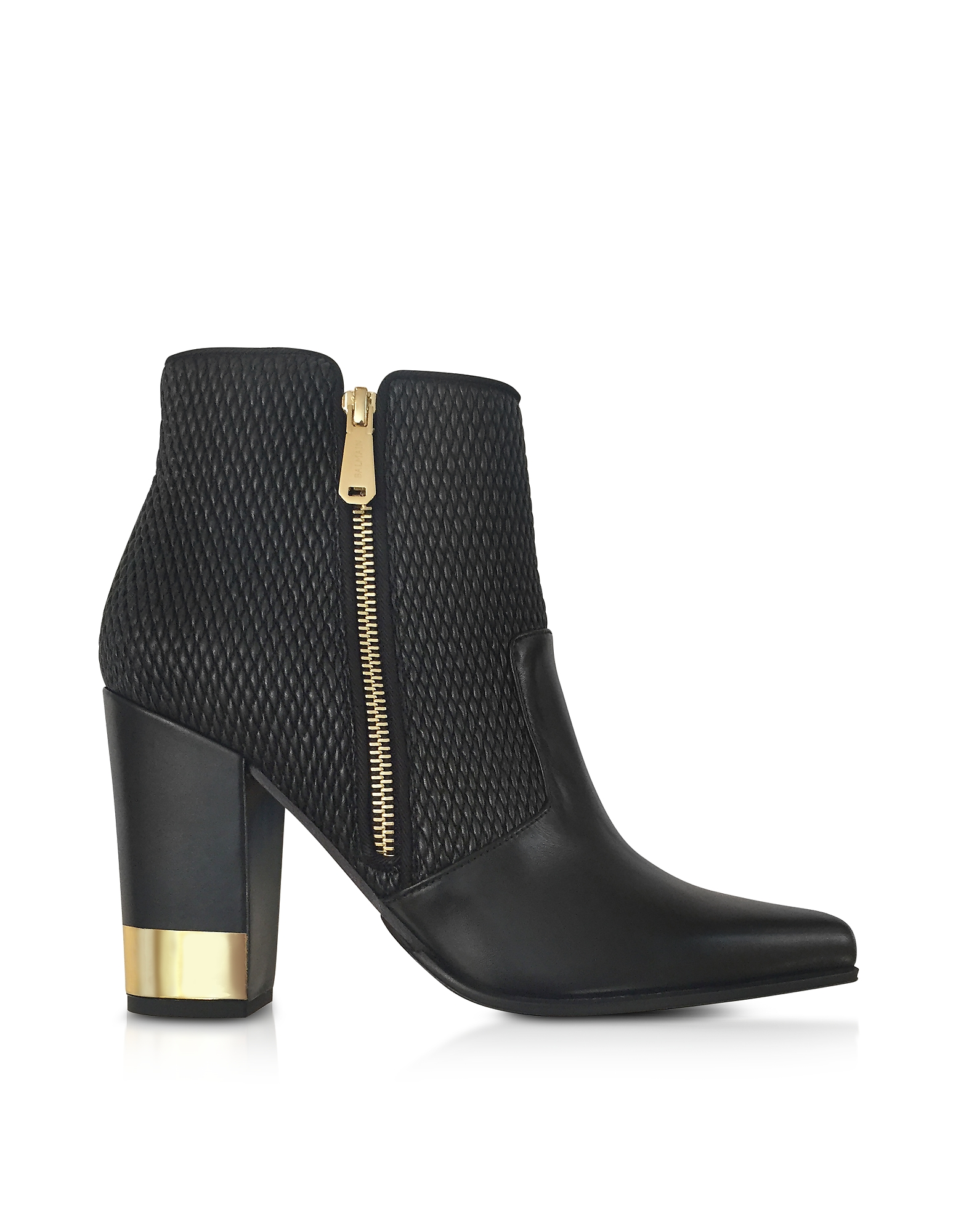 Balmain Anthea Black Quilted Leather Boots