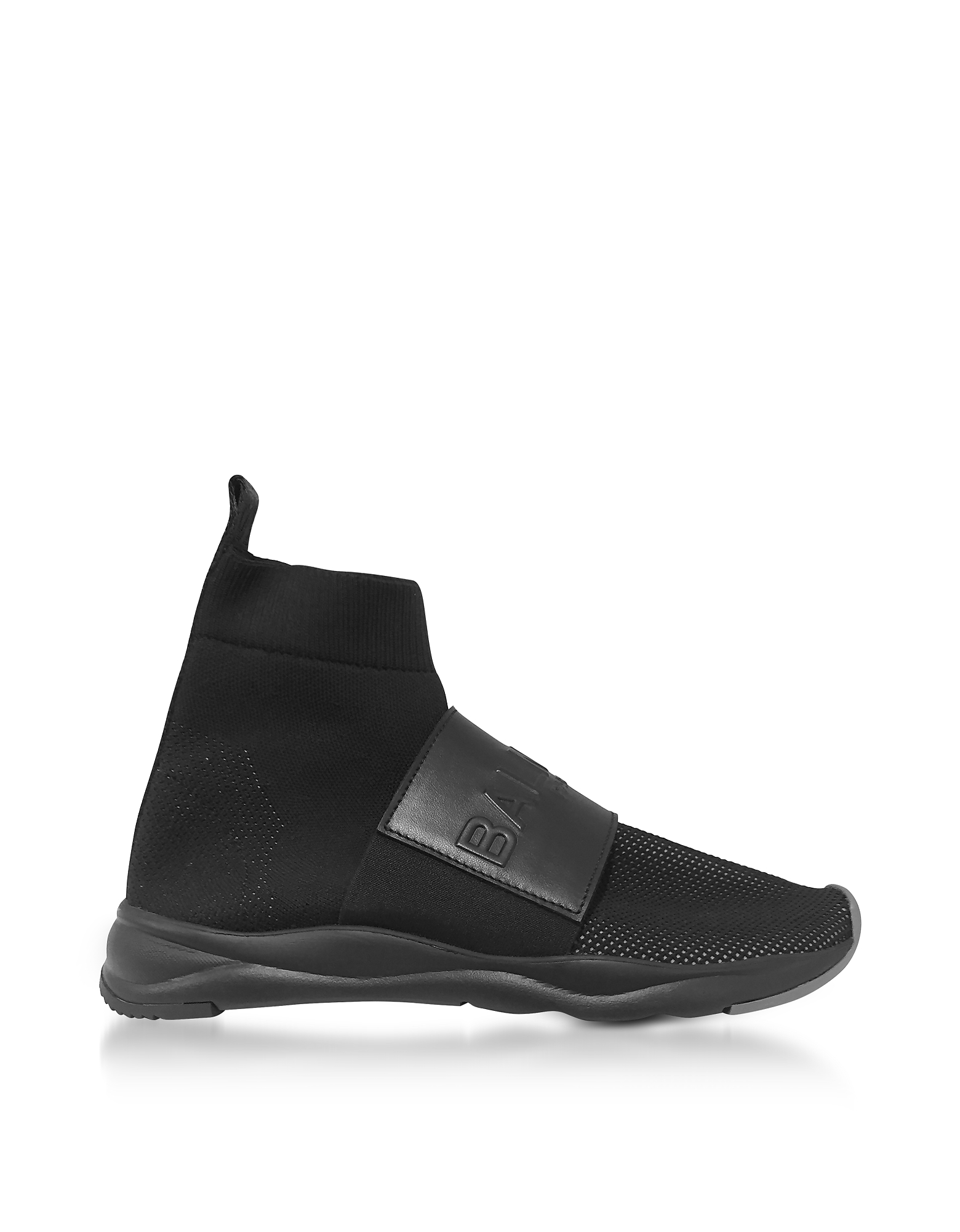 Balmain Shoes, Black Nylon and Leather Cameron Running Men's Snekers
