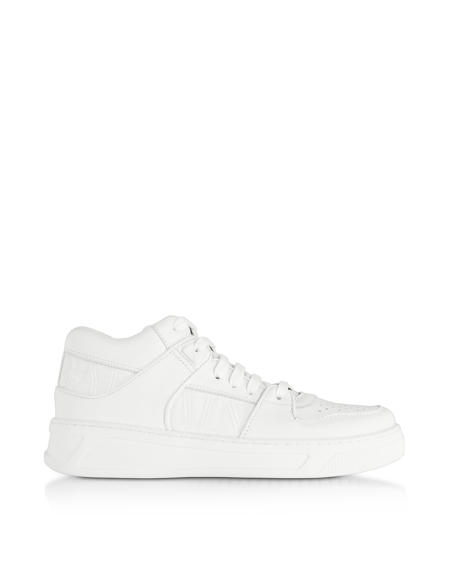 Optic White Kane Leather Low Top Sneakers