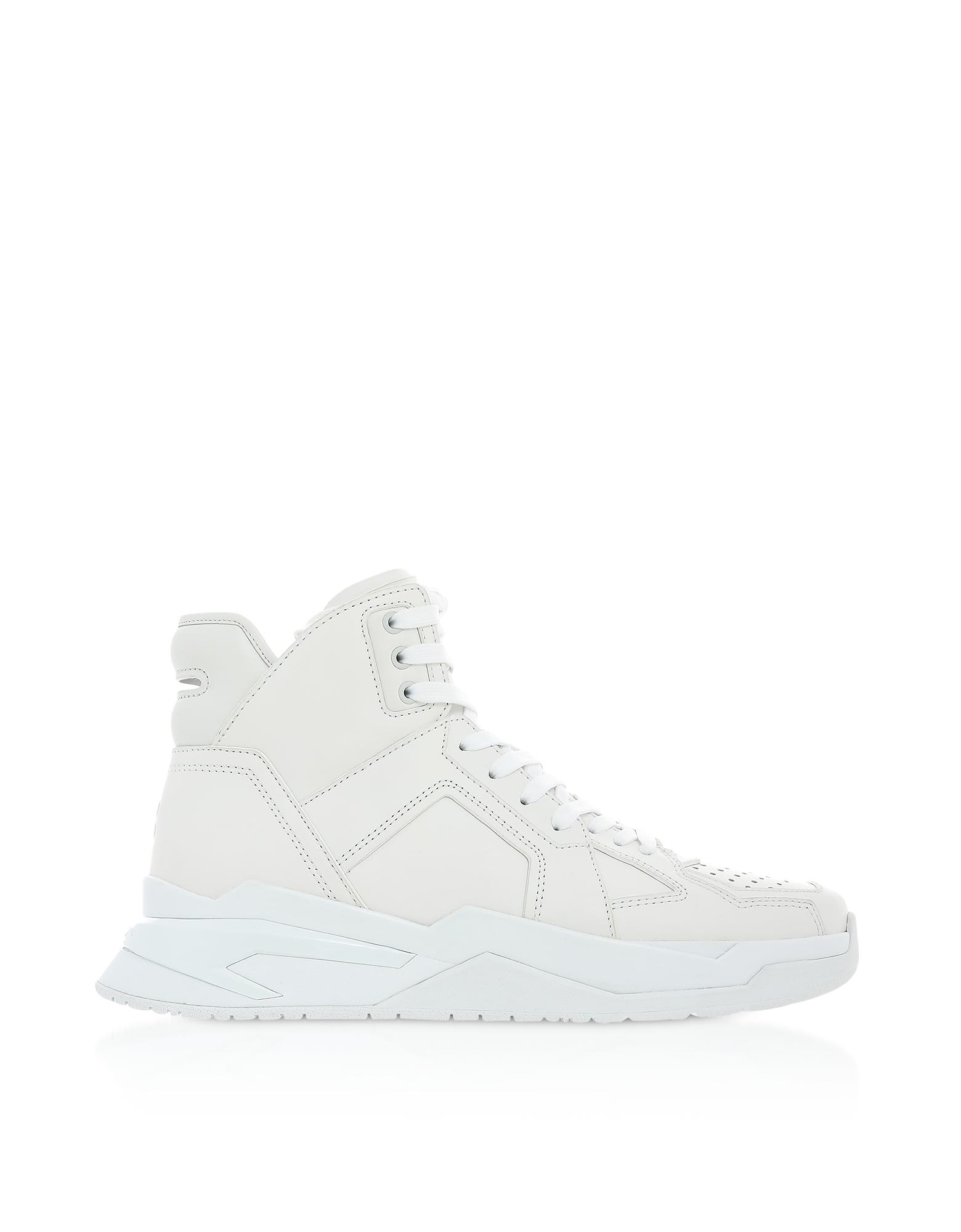 White High Top Men's B-Ball Sneakers