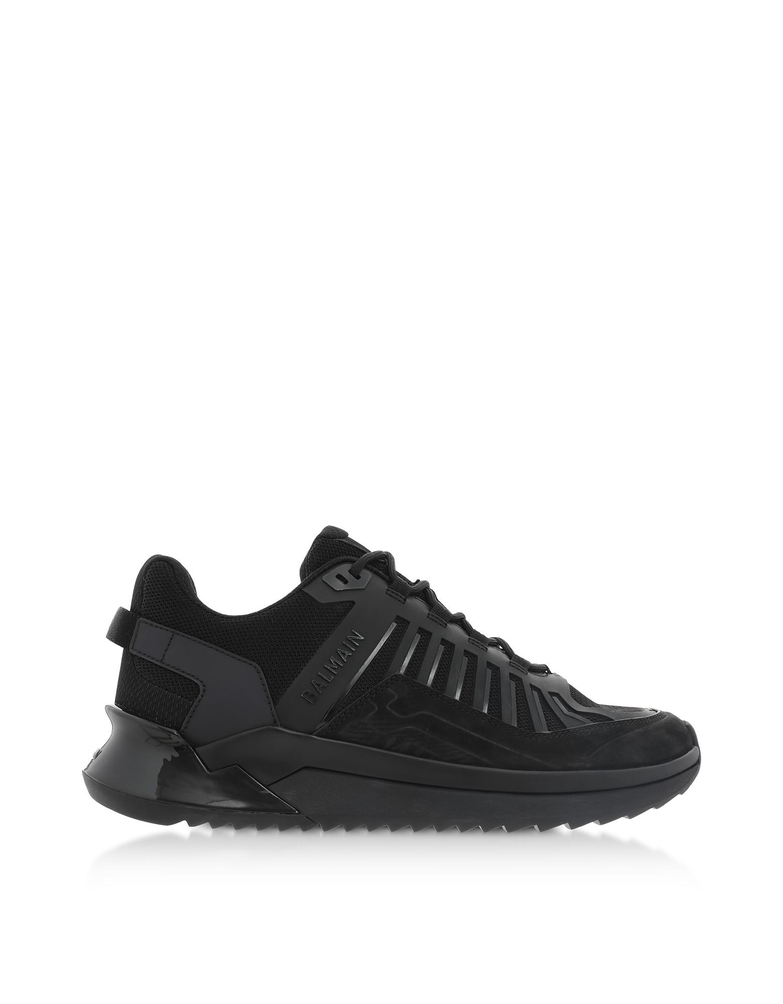Black Mid Top Men's B-Trail Sneakers