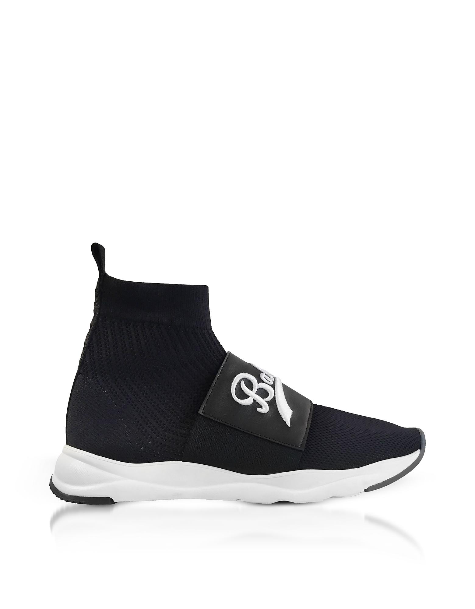 Balmain Shoes, Cameron Black Signature Men's Sock Sneakers
