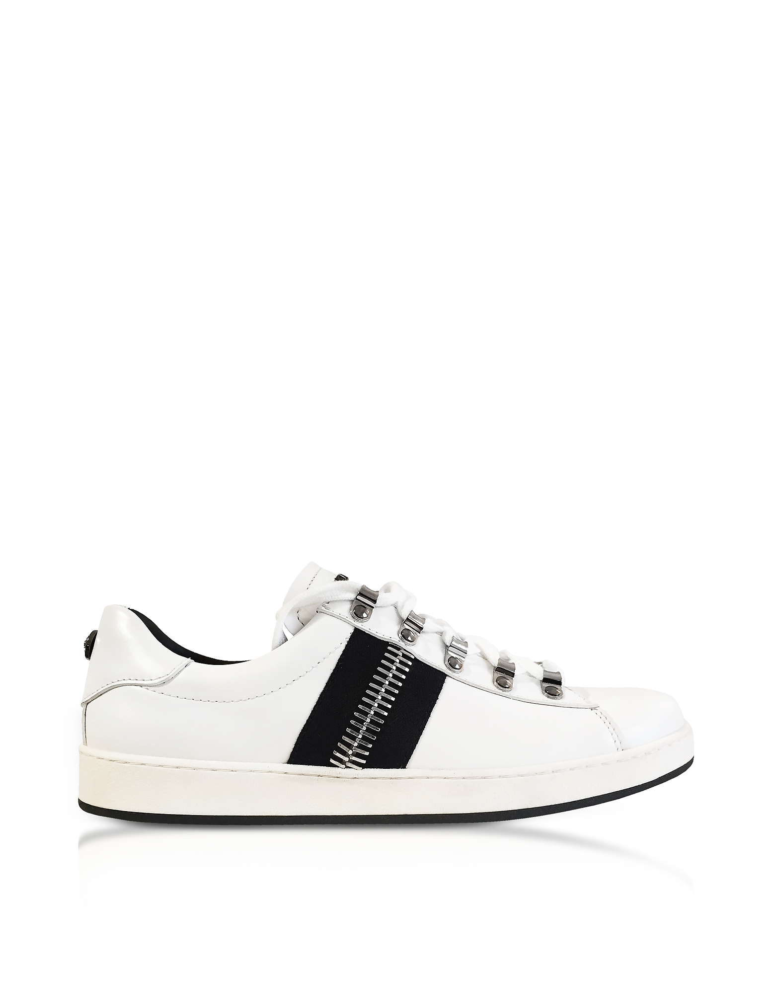 Eric White Leather Low-Top Sneakers