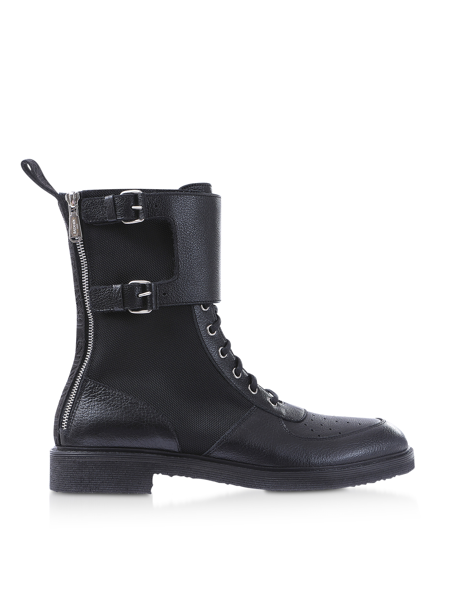 Balmain Designer Shoes, Leather & Nylon Maddox Ranger Boot
