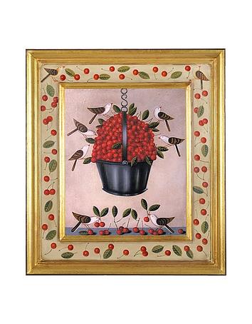 Bianchi Art  Tableau huile sur toile - Cerises de Toscane