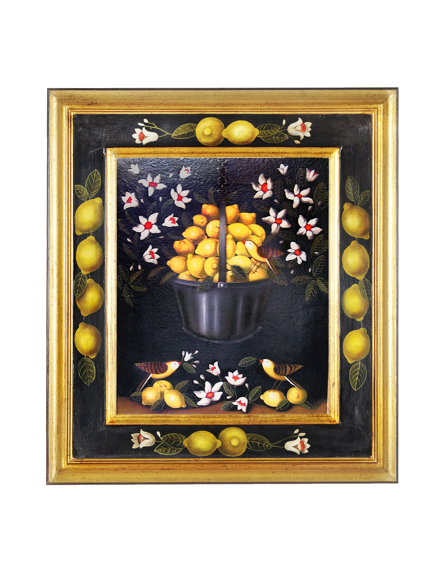 Image of Oil on Canvas Lemons Painting