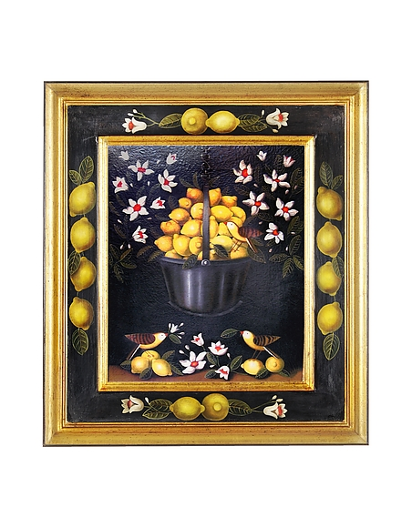 Image of Bianchi Art Works Dipinto a Olio con Limoni