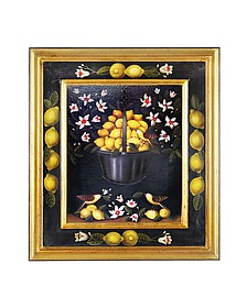Oil on Canvas Lemons Painting - Bianchi Arte