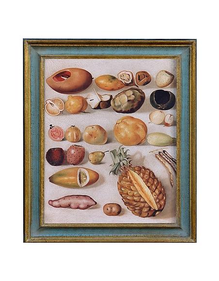 Image of Bianchi Art Works Dipinto a Olio con Ananas e Frutta