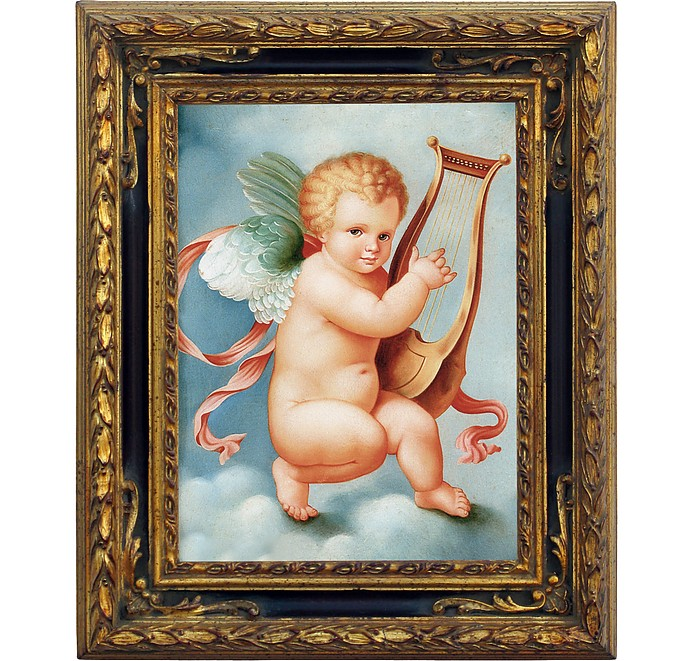 Oil on Canvas Cherub Painting - Bianchi Arte