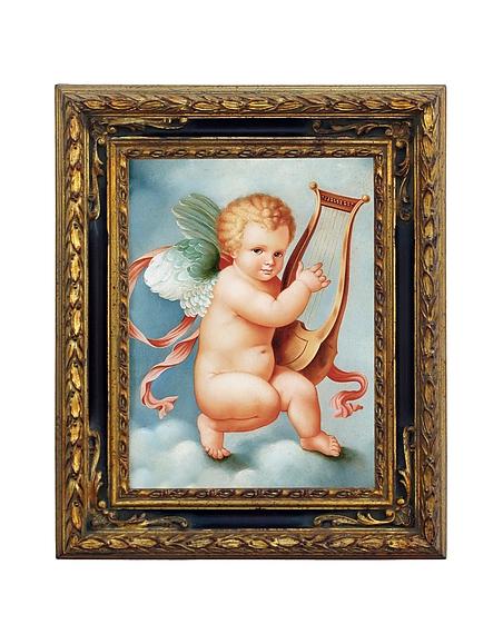Foto Bianchi Art Works Dipinto a Olio con Cherubino Quadri