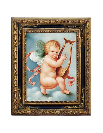 Bianchi Arte - Oil on Canvas Cherub Painting