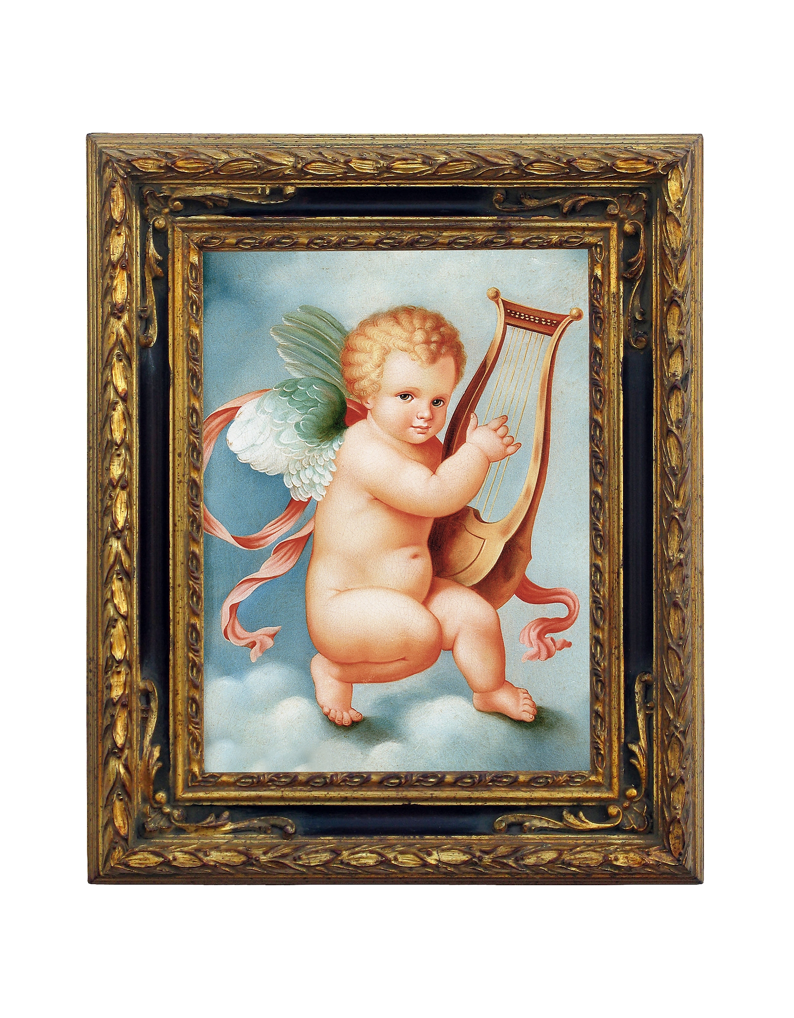 Bianchi Arte Paintings, Oil on Canvas Cherub Painting