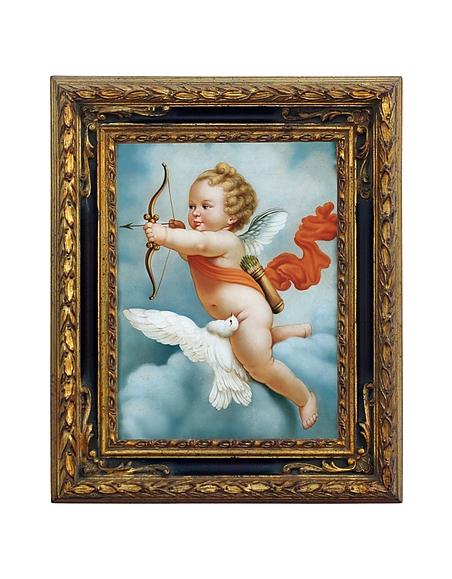Bianchi Arte Öl auf Canvas-Gemälde Engel mit Bogen
