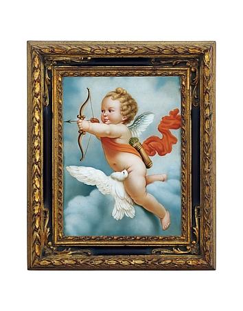 Bianchi Arte - Oil on Canvas Cherub Painting