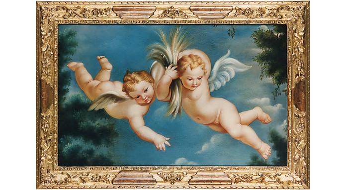 Oil on Canvas Cherubs Painting - Bianchi Arte