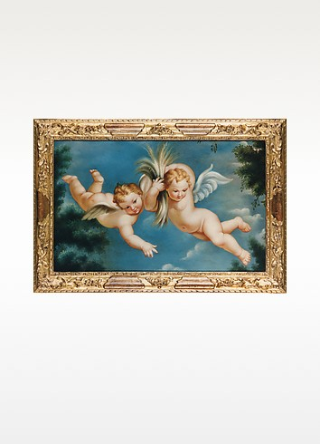 Oil on Canvas Cherubs Painting - Bianchi Arte