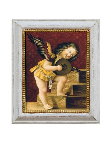 Image of Bianchi Art Works Dipinto a Olio con Cherubino Suonatore