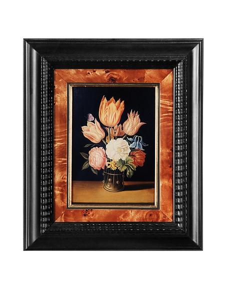 Image of Bianchi Art Works Dipinto a Olio con Vaso di Fiori Colorati