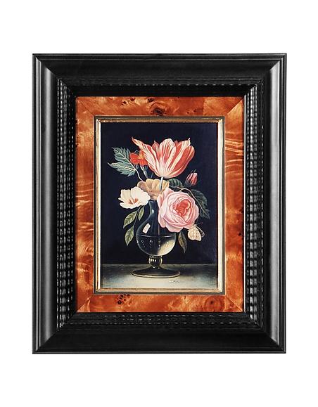 Foto Bianchi Art Works Dipinto a Olio con Vaso di Fiori e Rose Quadri