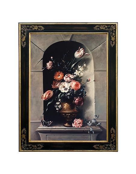 Image of Bianchi Art Works Dipinto a Olio con Vaso di Fiori e Nicchia