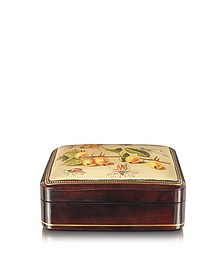 Oil on Leather Mini Jewelry Box - Bianchi Arte