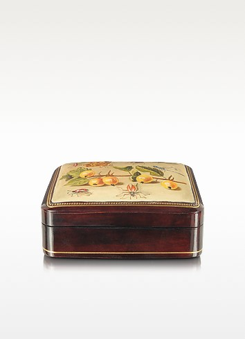Oil on Leather Mini Jewelry Box - Bianchi Arte