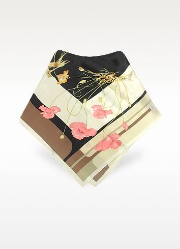 Wild Flowers Printed Silk Square Scarf - Basile