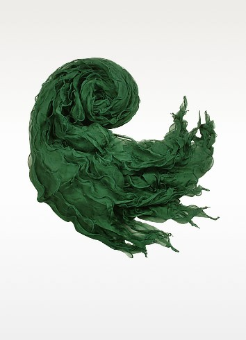 Ruffled Silk Stole - Basile