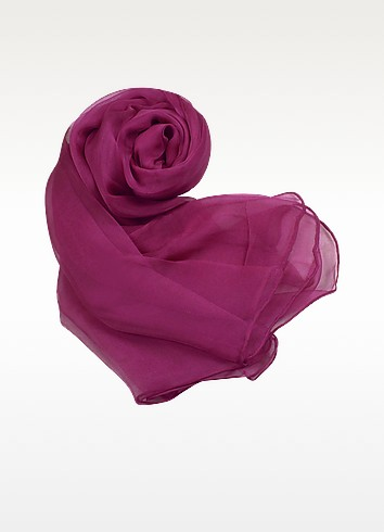 Solid Pure Silk Stole - Basile