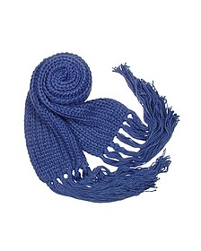 Cable Knit Fringed Long Scarf - Basile