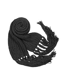 Echarpe en tricot à franges - Basile