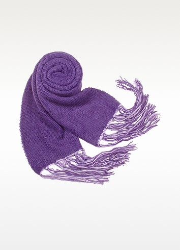 Two-tone Reversible Knit Long Scarf - Basile