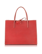 Buti Shopper Media in Pelle Rossa con Pochette - buti - it.forzieri.com