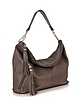 Dark Brown Leather Shoulder Bag - Buti