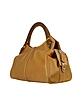 Faux Wooden Handle Leather Satchel Bag - Buti