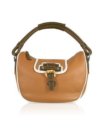 Foto der Handtasche Buti Hobotasche aus gepraegtem Leder in hellbraun
