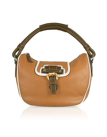 Buti - Tan Pebble Leather Hobo Bag