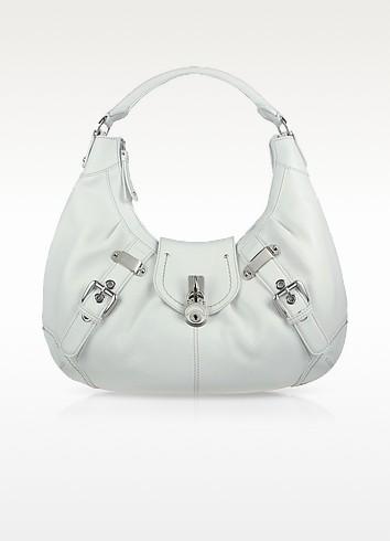 Large Pebble Leather Hobo Bag - Buti