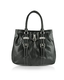 Large Grained Leather Tote Bag - Buti