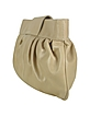 Beige Genuine Leather Twist-lock Clutch  - Buti